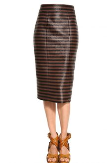 Burberry Prorsum Viscose Raffia Pencil Skirt - Lyst