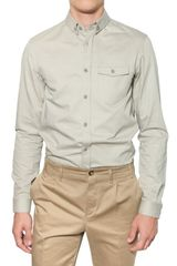 Burberry Prorsum Slim Fit Poplin Shirt - Lyst