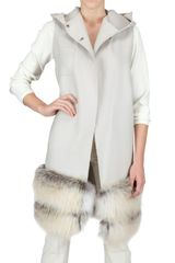 Chicca Lualdi Beequeen Fox Fur Bottom Wool Cloth Vest - Lyst