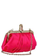 Christian Louboutin Mini Loubi Lula Silk Clutch in Purple (fuchsia) - Lyst
