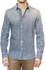 Closed Washed Denim Shirt - Lyst