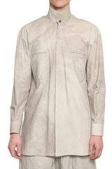 Damir Doma Cotton Poplin High Neck Shirt - Lyst