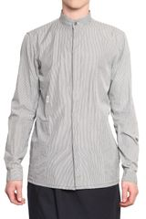 Damir Doma Thin Striped Cotton Poplin Shirt - Lyst