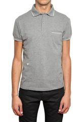 Dior Homme Bee Embroidered Piquet Cotton Polo - Lyst
