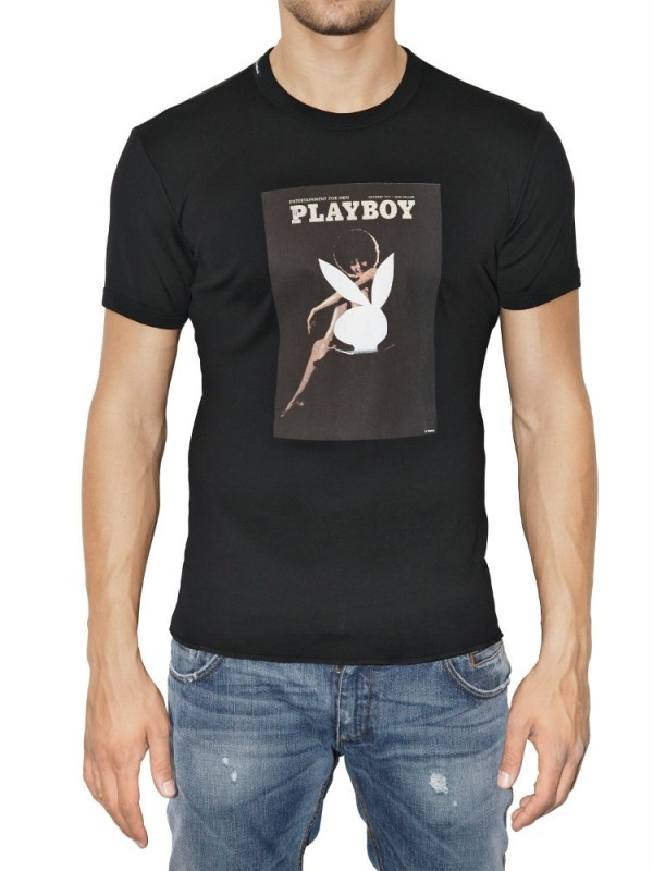 Lyst Dolce Amp Gabbana Playboy Printed Jersey T Shirt In
