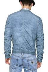 Dolce & Gabbana Washed Nylon Sport Jacket in Blue for Men - Lyst