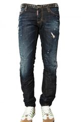 DSquared2 19cm Studded Denim Slim Fit Jeans - Lyst
