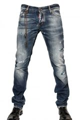 Dsquared2 19cm Washed Denim Slim Fit Jeans in Blue for Men - Lyst