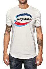 DSquared2 Cotton Jersey Printed Logo T-shirt - Lyst