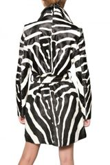Dsquared2 Zebra Print Ponyskin Trench Coat in Animal (zebra) - Lyst