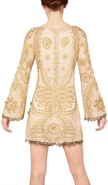 Uk Emilio Pucci Gold Sequins Silk Tulle Dress Emilio Pucci Sequin Silk