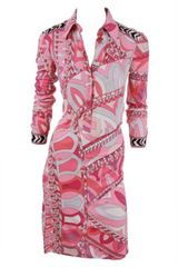 Emilio Pucci Dress in Pink - Lyst
