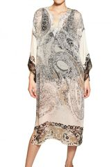 Etro Printed Silk Georgette Kaftan Dress - Lyst