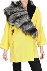 Fausto Puglisi Astrakhan and Silver Fox Fur Wool Crepe - Lyst