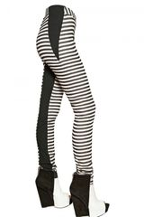 Gareth Pugh Stripey Stretch Silk Jersey Leggings - Lyst