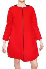 Gianluca Capannolo A-line Zipped Stretch Wool Cloth Coat - Lyst