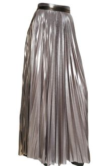 Haider Ackermann Pleated Techno Metallic Jersey Skirt - Lyst