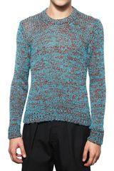 Jil Sander Cotton Knit Sweater - Lyst