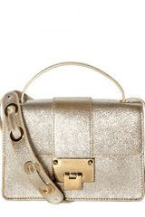 Jimmy Choo Rebel Glitter Leather Shoulder Bag - Lyst
