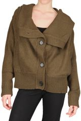 Kai Aakmann Hooded Wool Knit Cardigan Sweater - Lyst