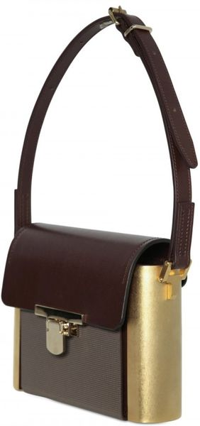 Lanvin Leather with Metal Sides Ca Top Handle - Lyst