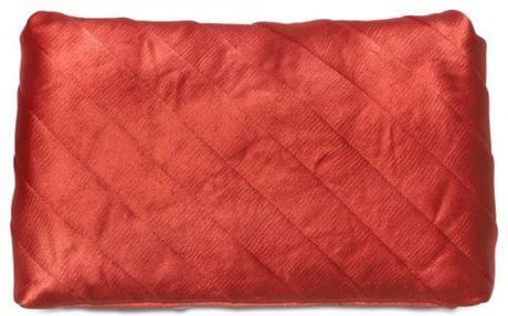 Lanvin Satin Patchwork Evening Clutch in Red - Lyst