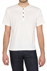 Lanvin Silk Piping Serafino Jersey T-shirt - Lyst