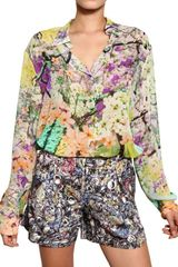 Mary Katrantzou Printed Silk Georgette Shirt in Multicolor (multi) - Lyst