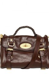 Mulberry Mini Alexa Soft Buffalo Satchel - Lyst