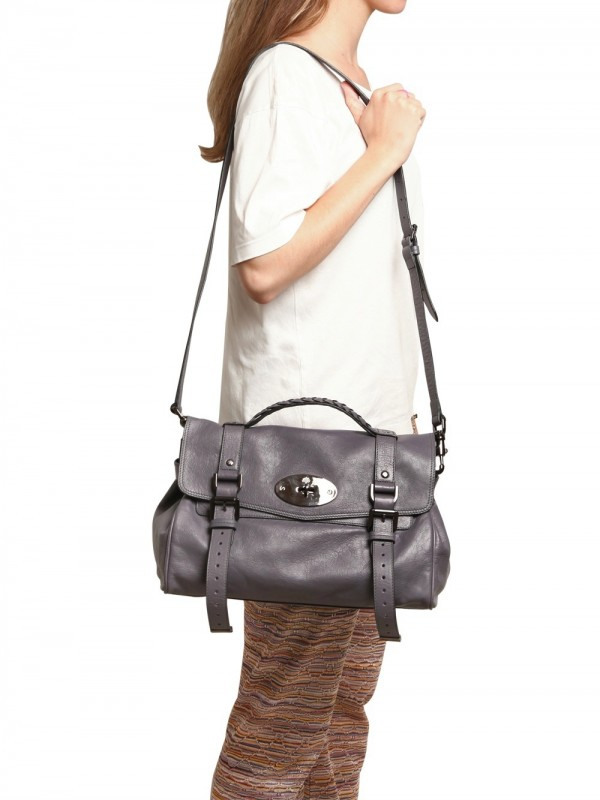 4563c994ecda Lyst - Mulberry Oversize Alexa Soft Buffalo Leather Top in Gray