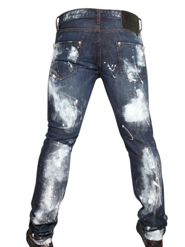 distressed detail jeans - Blue Philipp Plein Free Shipping Eastbay Free Shipping Discounts Clearance Store Cheap Price Official Site Discount Footlocker Finishline ciZna