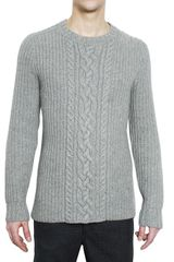 Pringle of Scotland Cashmere and Wool Woven Knit Sweater - Lyst