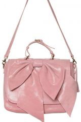RED Valentino Laminated Leather Bow Shoulder Bag - Lyst