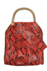 Stella McCartney Falabella Large Eco Python Shoulder Bag - Lyst
