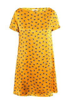 Yves Saint Laurent Star-print Silk Dress - Lyst