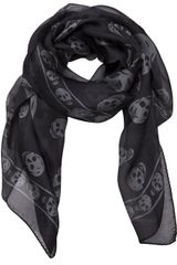 Alexander Mcqueen Skull Print Scarf in Black for Men - Lyst