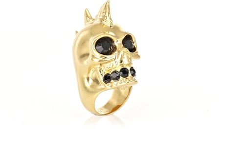 Alexander Mcqueen Skull Sharktooth Ring in Gold - Lyst