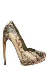 Alexander Mcqueen 140mm Multi Snake Pumps in Multicolor (multi) - Lyst