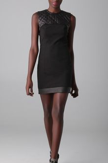 Alexander Wang Sleeveless Dress with Quilted Leather Yoke - Lyst