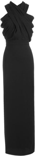 Altuzarra Moonbeam Crepe Satin Evening Gown in Black - Lyst