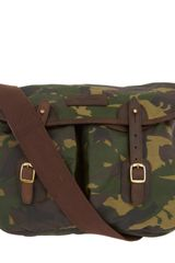 Barbour Camouflage Waxed Cotton Satchel in Green for Men - Lyst