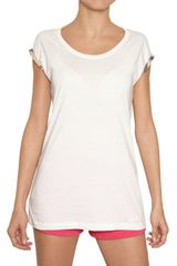 Burberry Brit Cotton Jersey T-shirt - Lyst