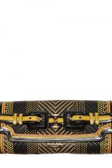 Burberry Prorsum Woven Leather Flap Clutch