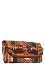 Burberry Prorsum Woven Leather Clutch in Brown (multi) - Lyst