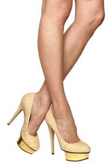 Charlotte Olympia 140mm Straw & Mirror Platform Pumps in Beige (natural) - Lyst