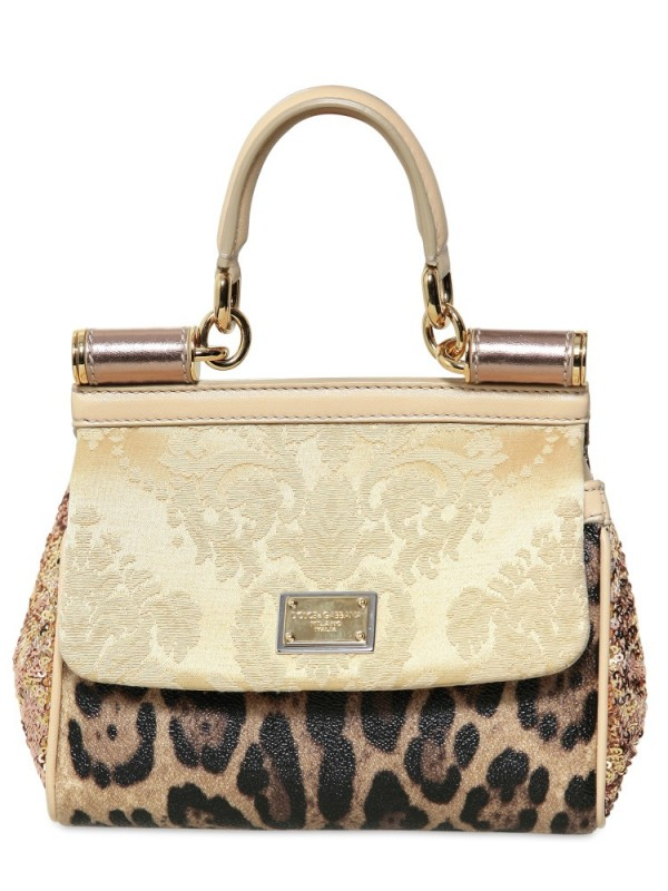 ... Sicily Bag in Metallic  buy popular 5a4be d594a Gallery. Previously  sold at LUISA VIA ROMA · Womens Dolce Gabbana ... 8496d3d755
