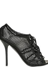 Dolce & Gabbana 110mm Cotton Net Laced Pumps - Lyst