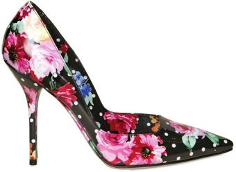 Dolce & Gabbana 110mm Patent Flower Print Pointy Pumps - Lyst