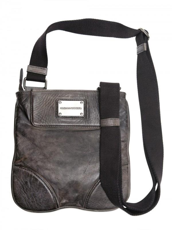 Lyst - Dolce   Gabbana Leather Bag in Black for Men 3d1a65331c1e3