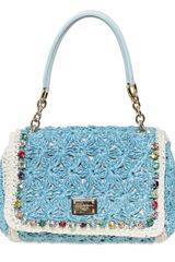 Dolce & Gabbana Miss Charles Crochet Top Handle - Lyst